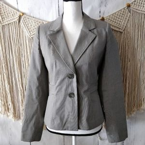 Halogen Gray Pinstripe Tailored Jacket Blazer 6
